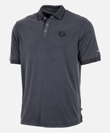 Tommy Bahama Texas A&M All Square Polo Front Black