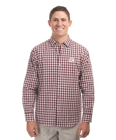Texas A&M Tommy Bahama Pacific Button Down - Front Maroon