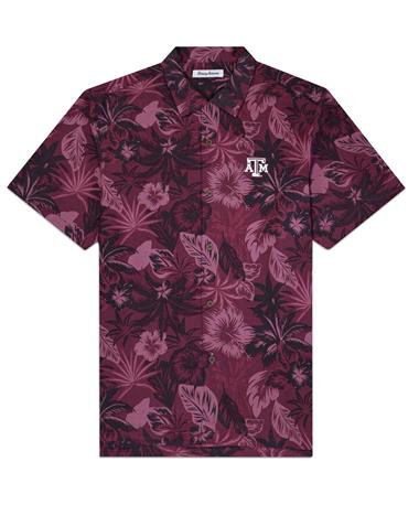 Texas A&M Tommy Bahama Fuego Button Down - Front Maroon