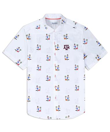 Texas A&M Tommy Bahama Hula Oasis Button Down - Front White