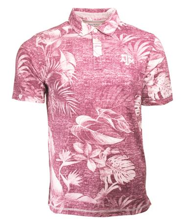 Texas A&M Tommy Bahama Parque Polo - Front Maroon
