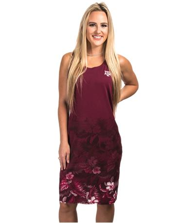 Texas A&M Tommy Bahama Floral Dress Maroon