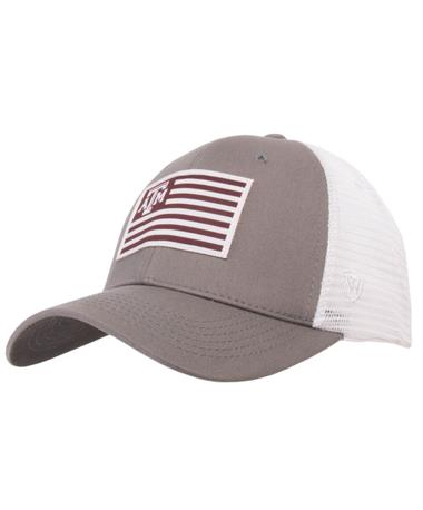 Texas A&M Brave Adjustable Snapback Front Grey