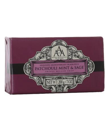Patchouli Mint Sage Soap Front Mint SAGE