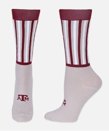 Texas A&M Between the Lines Dress Socks Maroon