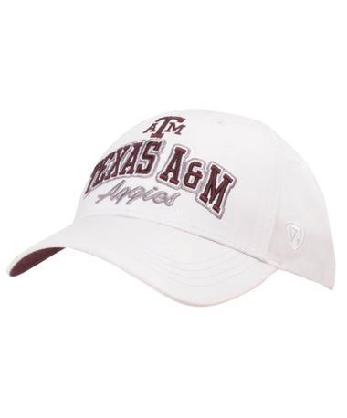 Texas A&M Advisor Youth Adj Snapback Front White