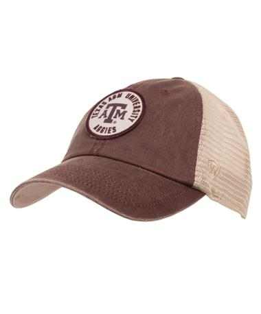 Texas A&M Keepsake Adj Snapback Front Maroon