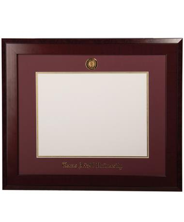 University Frames Texas A&M Honors Medallion Diploma Frame Mahogany