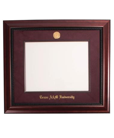 Texas A&M Executive Maroon Diploma Frame Suede Mat/Mar
