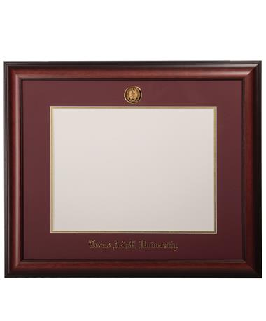 University Frames Texas A&M Satin Medallion Diploma Frame Mahogany