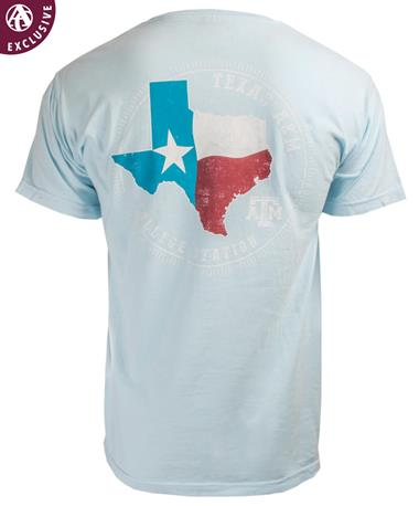 Texas A&M Aggie Circle of Pride Flag T-Shirt Chambray