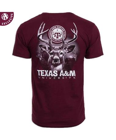 Texas A&M Aggie 9 Point Buck T-Shirt - Back Maroon