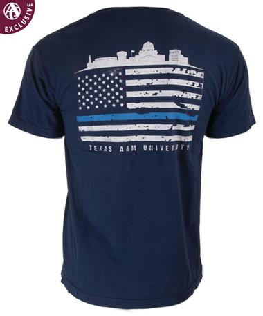 Texas A&M Aggies Support T-Shirt Pigment Navy