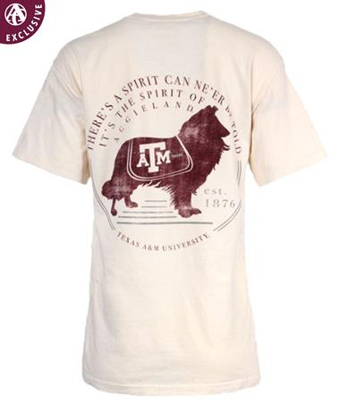 Texas A&M Miss Reveille Spirit T-Shirt Ivory