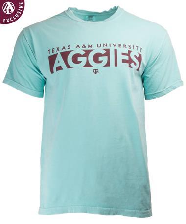 Texas A&M Basic Blocked Aggies T-Shirt Chalky Mint