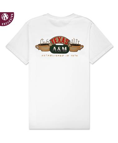 Texas A&M Central Texas Perk T-Shirt - Back White