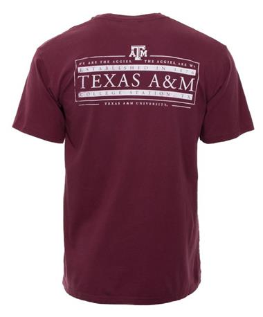 Texas A&M Established In 1876 T-Shirt Back Maroon