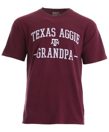 Texas A&M Aggie Grandpa Arched T-Shirt Maroon