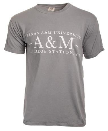 Texas A&M Aggie Basic Grey T-Shirt - Front Granite