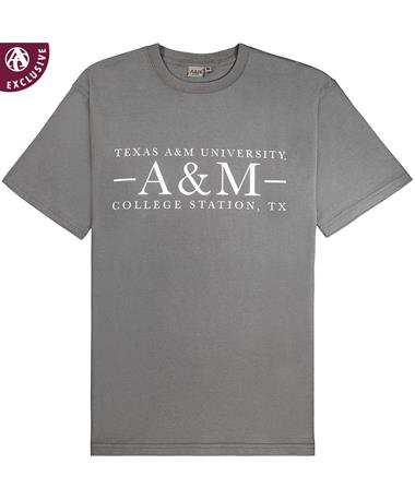 Texas A&M Aggie Basic Grey T-Shirt - Front Grey