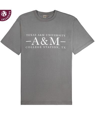 4709e67a3388 Texas A M Aggie Basic Grey T-Shirt - Front Grey