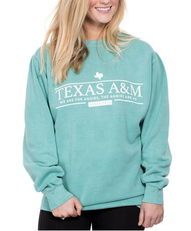Texas A&M We Are The Aggies Sweatshirt Seafoam