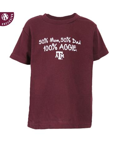 Texas A&M 100 Percent Aggie Toddler T-Shirt Maroon