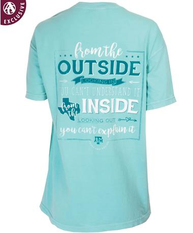 Texas A&M Inside Looking Out T-Shirt Chalky Mint