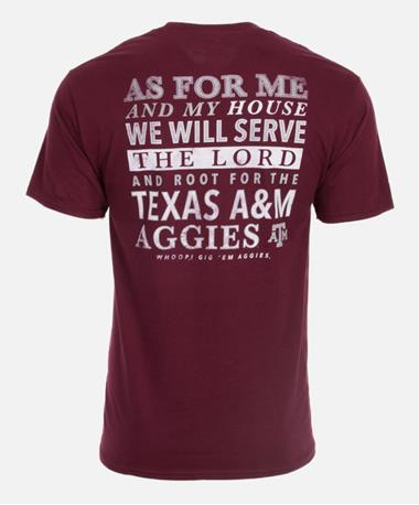 Texas A&M Aggie Serve the Lord T-Shirt - Back Maroon