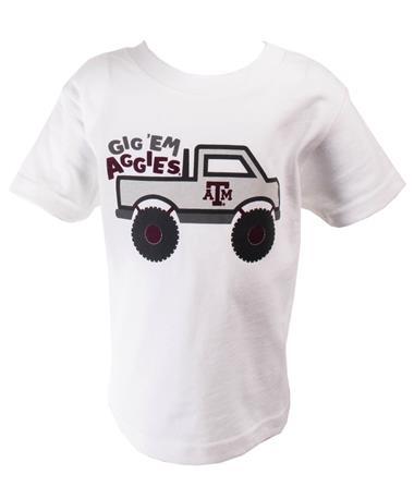 Toddler Texas A&M Monster Truck T Shirt-front White