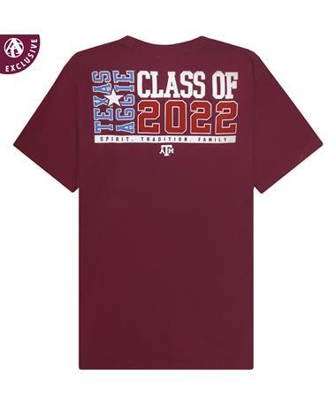 Texas A&M Flag Class Of 2022 Pocket T-Shirt