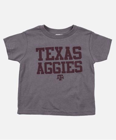 Toddler Texas A&M Basic Aggies T Shirt Charcoal