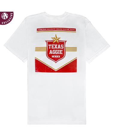 Texas A&M Aggie Star T-Shirt - Back White