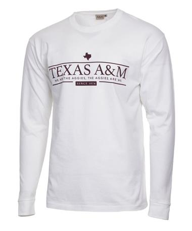 Texas A&M Aggie White Long Sleeve T-Shirt White