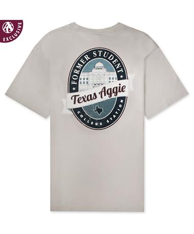 Texas A&M Aggie Academic Former Student T-Shirt - Smoke - Back Smoke