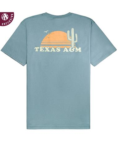 Texas A&M Aggies The Coastal Short Sleeve T-Shirt - Back Coastal