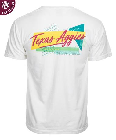 Texas A&M Aggie 80s Throwback Short Sleeve T-Shirt White