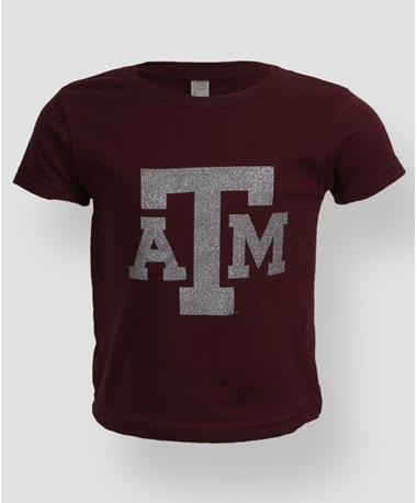 Toddler Texas A&M Sparkle Bling T Shirt Maroon