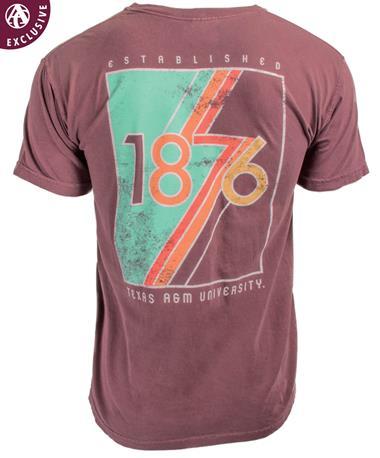 Texas A&M Aggie Retro 1876 T-Shirt Vineyard