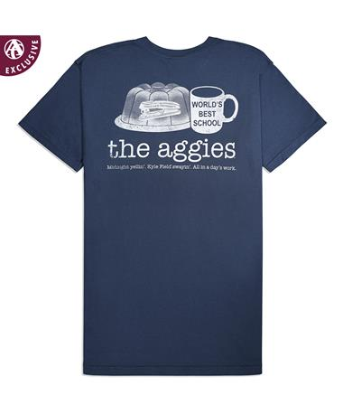 Texas A&M Jello Stapler Mug T-Shirt - Back Midnight