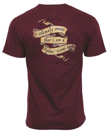 Texas A&M Aggie Solemnly Swear T-Shirt Back Maroon