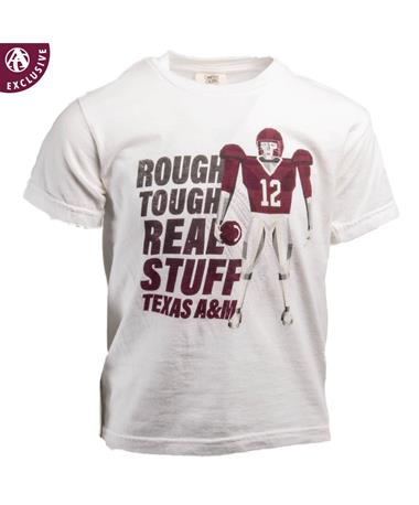 Texas A&M Rough Tough Youth Gigatron T-Shirt White