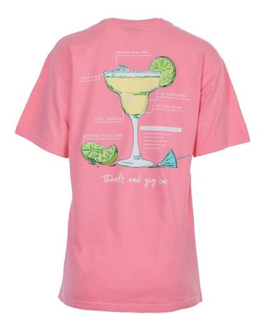 Margarita Lime Thanks And Gig Em T-Shirt - Back Poppy