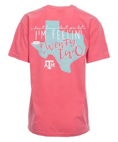 Texas A&M Aggie I`m Feelin` 2022 T-Shirt - Back Watermelon