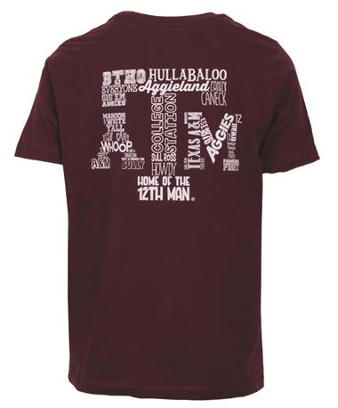 Youth Texas A&M Ultimate Aggie T-Shirt Back Maroon