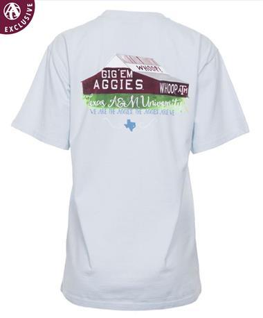 Texas A&M Aggie Iconic Barn T-Shirt Sky