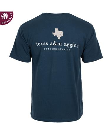 82670851d Texas A&M Aggie College Station Star T-Shirt - Polo Blue - Back Polo ...