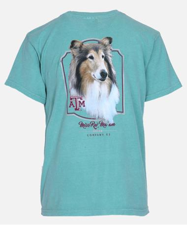 Youth Texas A&M Miss Rev Ma`am Company E2 Tee - Back Seafoam