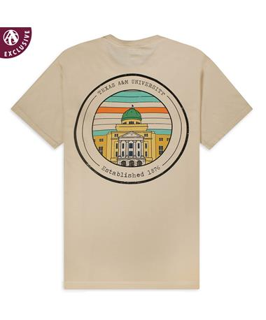 Texas A&M Academic Building T-Shirt - Back Ivory