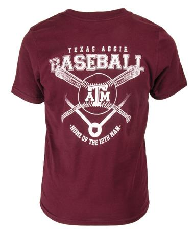 Texas A&M Baseball Youth 12th Man T-Shirt Maroon